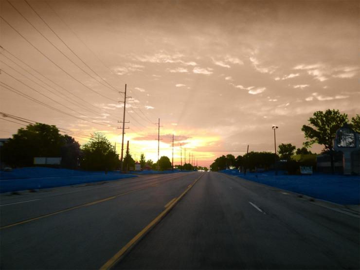 Sunrise in the making